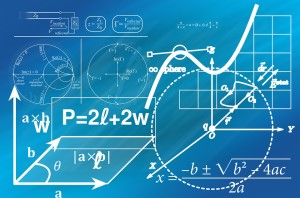 Illustration of geometry equations and diagrams