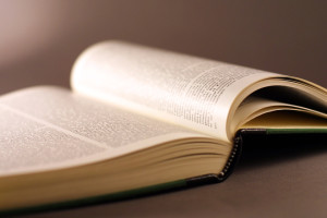 Open book with tight focus point