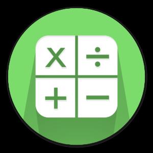 Math symbols in a green circle
